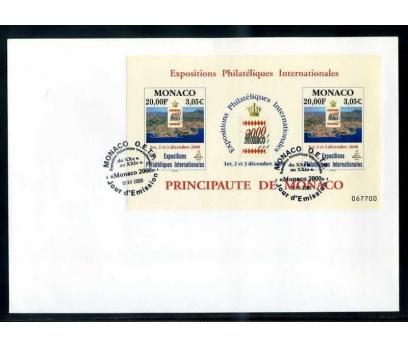 MONAKO  FDC 2000 MONAKO PUL SERGİSİ BLOK SÜPER
