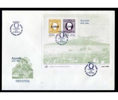 PORTEKİZ AZOR  FDC 1980 EUROPA CEPT BLOK SÜPER