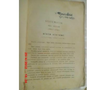 SİNİR SİSTEMİ - SİSTEMATİK KISA ANATOMİ 1940