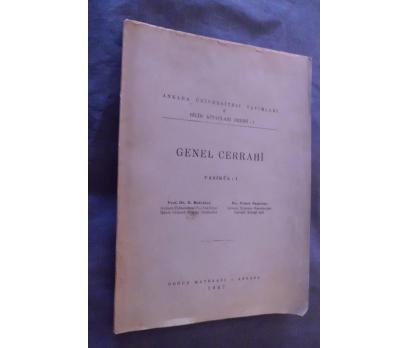 TIP / GENEL CERRAHİ FASİKÜL 1 / A.Ü.YAYINLARI 1947