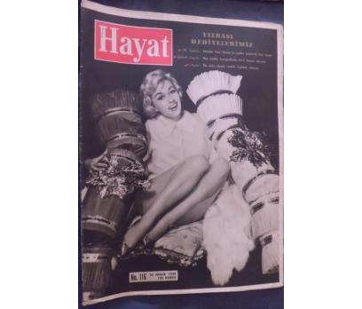 HAYAT DERGİSİ 1958 SAYI 116 CAROLE LESLEY
