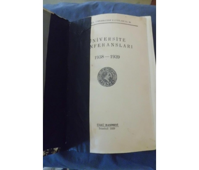 İ.Ü / ÜNİVERSİTE KONFERANSLARI 1938/1939