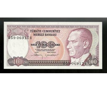 D&K-7. EMİSYON 100 LİRA SERİ A59 069174 ÇİL