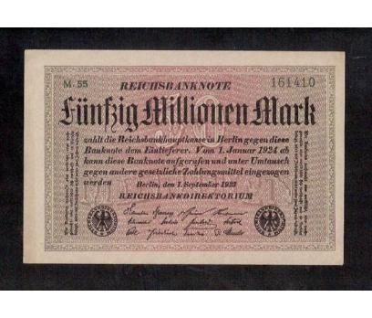 D&K- ALMAN 50 MİLYON MARK 1923 BERLİN