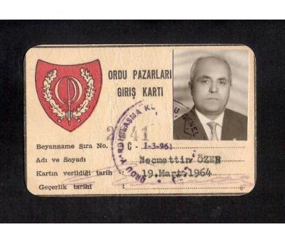 D&K- ORDU PAZARI GİRİŞ KARTI 1964 YILI
