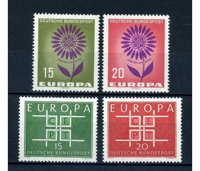 ALMANYA ** 1963-64 EUROPA CEPT 2 TAM SERİ (A-2)