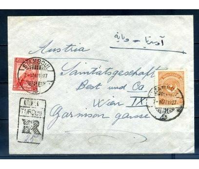 CUMHURİYET 1927 AYYILDIZ PULUYLA PG TAAH.ZARF