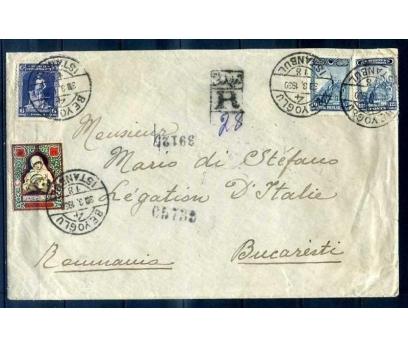 CUMHURİYET 1930 3. ve 4.LONDRA PULLU PG TAAH.ZARF