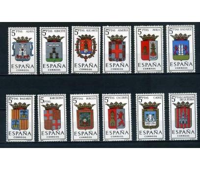 İSPANYA ** 1962-1966  ARMALAR 57 PUL KOMPLE SÜPER