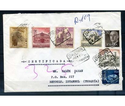 İSPANYA 1970 ÇOK PULLU İSTANBUL'A GELMİŞ TAAH