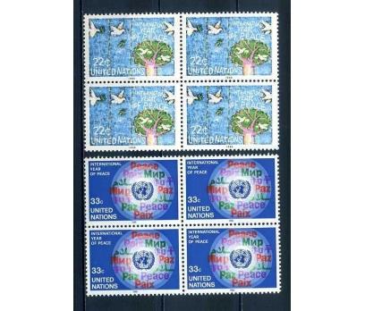 BM  ABD ** 1986 TAM SERİ DÖRTLÜ BLOK SÜPER