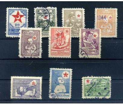 ÇEK DAMGALI 1943-44 ÇOCUK SARAYI TAM SERİ