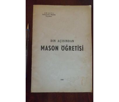 MASON - DİN AÇISINDAN MASON ÖĞRETİSİ 1964