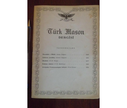 TÜRK MASON DERGİSİ  - YIL 12 SAYI 46 NİSAN 1962