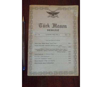 TÜRK MASON DERGİSİ  - YIL 14 SAYI 56 EKİM 1964