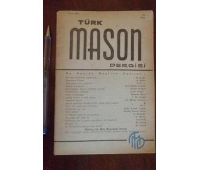 TÜRK MASON DERGİSİ  - YIL 2 SAYI 6 NİSAN 1952