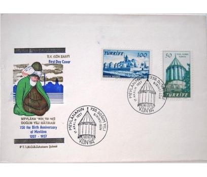 1957, MEVLANA'NIN DOĞUMUNUN 750.YILI FDC