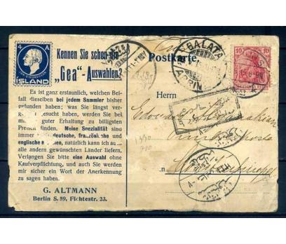 REICH 1915 İSTANBUL'A GELMİŞ POSTA KARTI