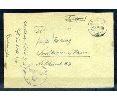 REİCH 1941 KLASİK ASKERİ POSTA NAZİ DAMGALI (R)