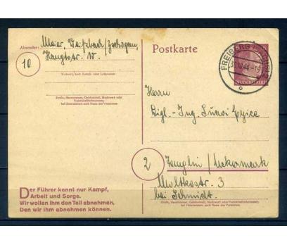 REICH 1944 HİTLER PULLU POSTA KARTI