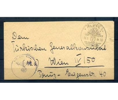 REİCH 1944 KLASİK ASKERİ POSTA NAZİ DAMGALI (R)