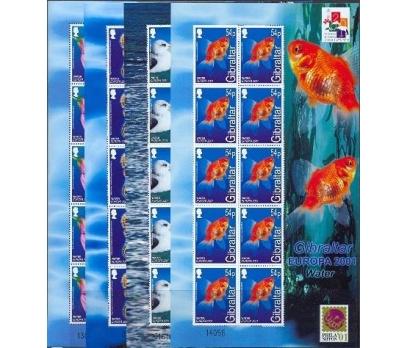2001 Cebelitarık Europa Cept Sheetlets Damgasız