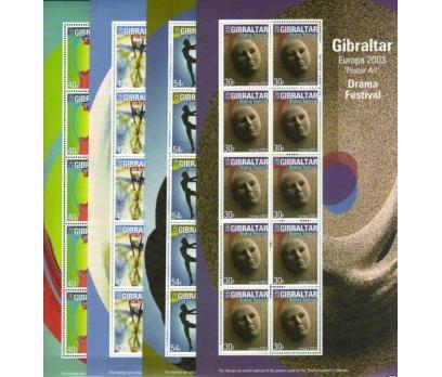 2003 Cebelitarık Europa Cept Sheetlets Damgasız**