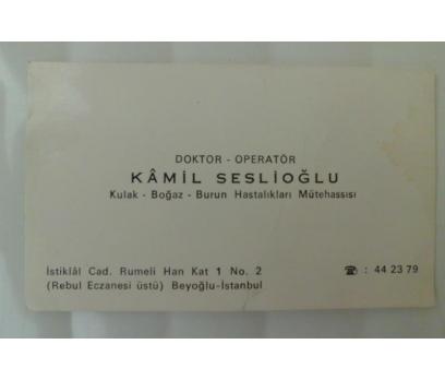 KARTVİZİT DR.KAMİL SESLİOĞLU (OPERATÖR)