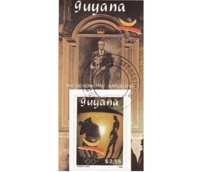 1988 Guyana Göbek Damgalı olimpiyatlar Blok 4