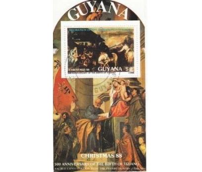 1988 Guyana Göbek Damgalı Tablolar Blok 2