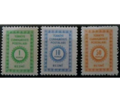 1965, RESMİ PULLAR**