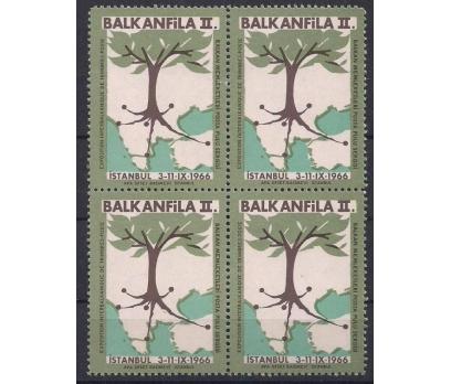 1966 Balkanfila Iı. Posta Pulu Sergisi Vinyet Dbl