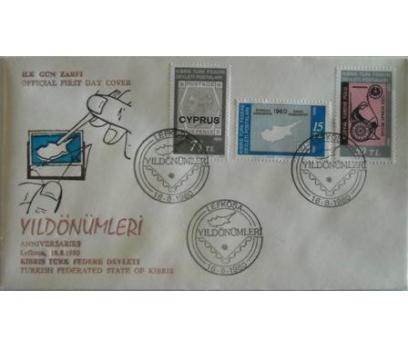 1980, KTFD,YILDÖNÜMLERİ FDC + PUL SERİSİ