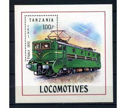 TANZANYA ** 1991 TRENLER BLOK SÜPER (0113)