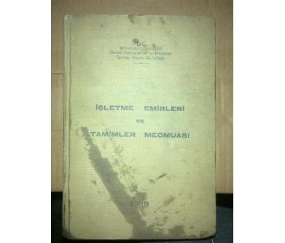 İŞLETME EMİRLERVE TAMİMLER MECMUASI 1939TARİHLİ