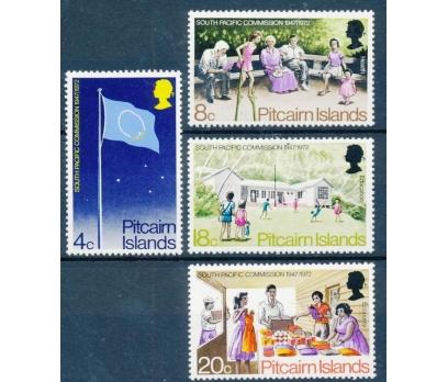 1972 Pitcairn Adaları Güney Pasifik Damgasız**