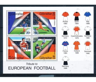 2000 Cebelitarık Avrupa Futbol Blok Damgasız**