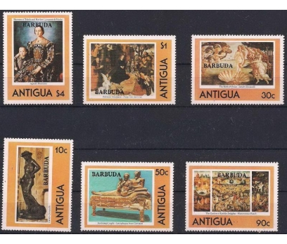 1980 Antigua Sanat Tablolar Damgasız**