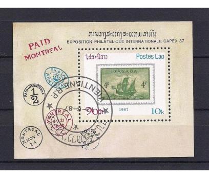 1987 Laos Capex Filateli İlk Gün Damgalı