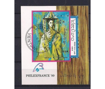 1989 Laos Philexfrance Picasso S/s Damgalı