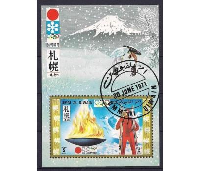 1971 Umm Al Qiwain Sapporo72 Olimpiyat Damgalı