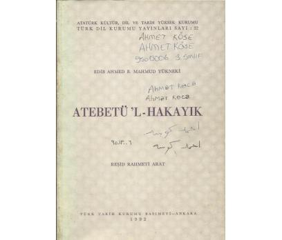 ATEBETÜ?L-HAKAYIK    Atatürk Kültür, Dil ve Tarih