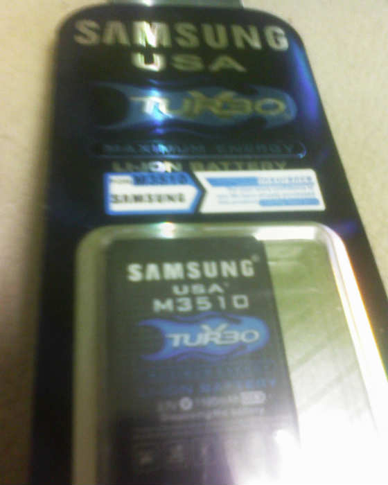 SAMSUNG M3510 %100 USA BATARYA+1100mAh 1