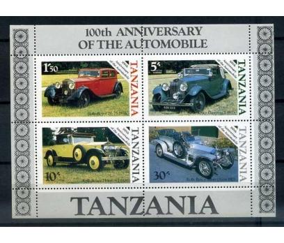 TANZANYA ** 1986 OTOMOMBİLLER  BLOK (G-0713)