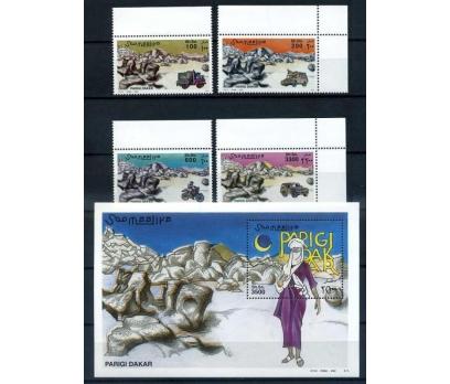 SOMALİ ** 2002 DAKAR RALLİSİ TAM S. VE BLOK (0813)