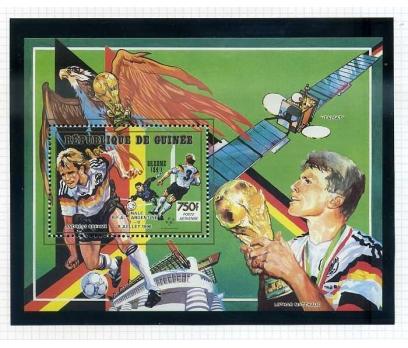GİNE ** 1990 FUTBOL BLOK BREHME-MATTHAUS  (0813)