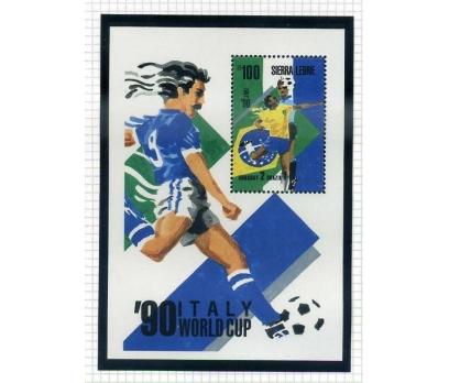 SİERRA LEONE ** 1990 FUTBOL BLOK  (0813)