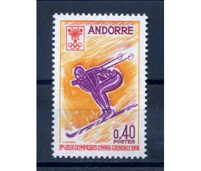 FR. ANDORRA ** 1968 GRENOBLE KIŞ O. TAM S.SÜPER