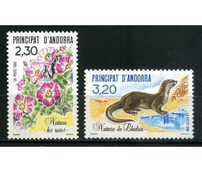 FR. ANDORRA ** 1990 ÇİÇEK & SU SAMURU TAM S. SÜPER