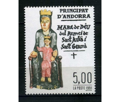FR. ANDORRA ** 1991 DİNİ TABLO TAM SERİ SÜPER